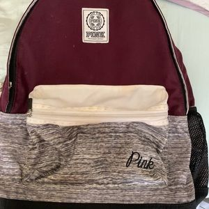 Burgundy backpack from Pink